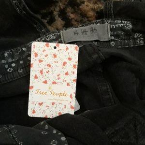 Free People Jeans - Free People Black Baggy Black Denim Overalls Jeans